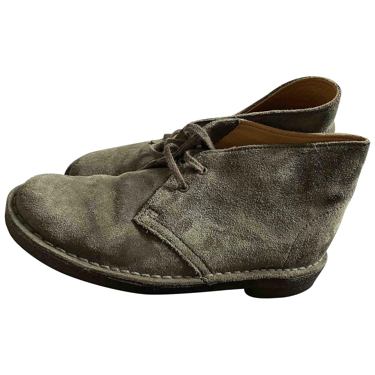 Clarks - Boots   pour femme en suede - gris