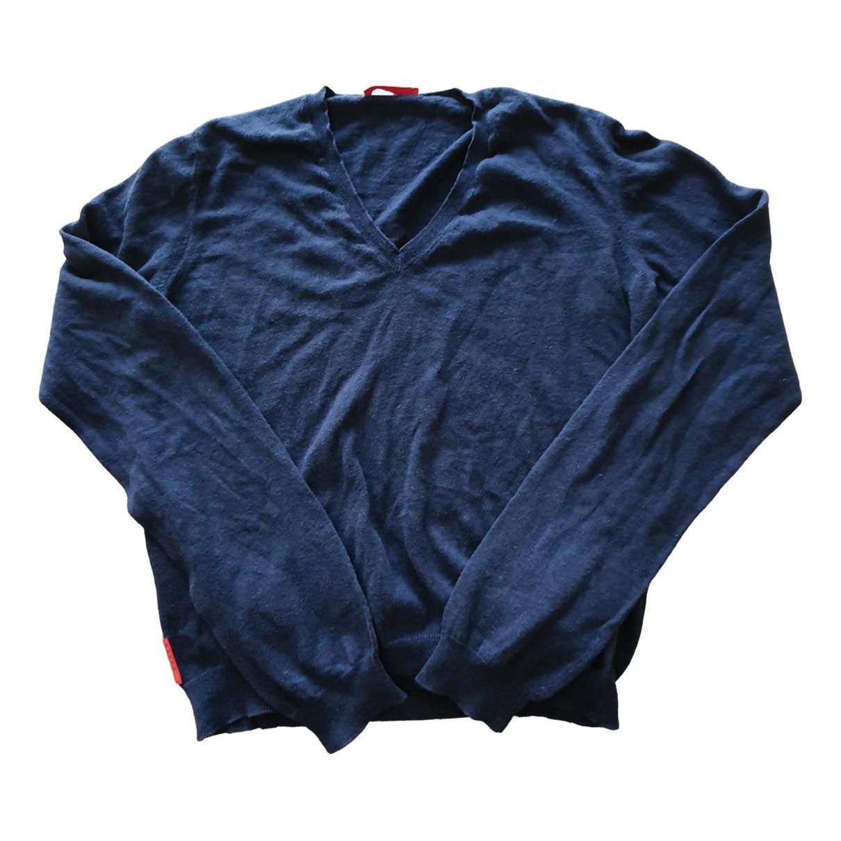 Prada \N Navy Wool Knitwear for Women 42 IT