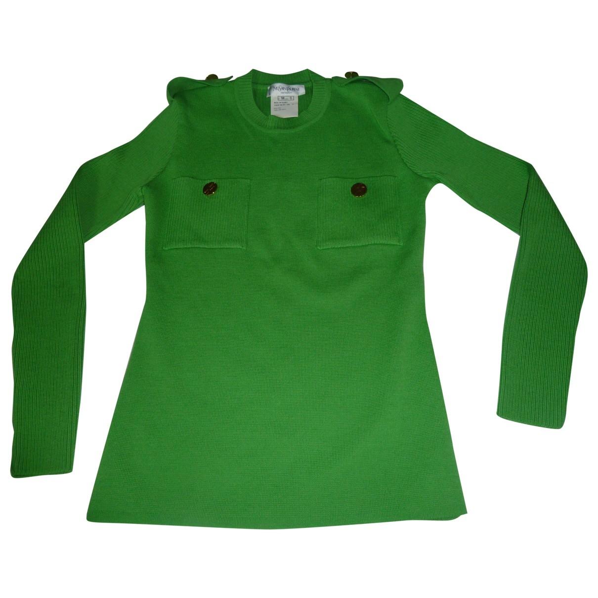 Yves Saint Laurent - Pull   pour femme en laine - vert