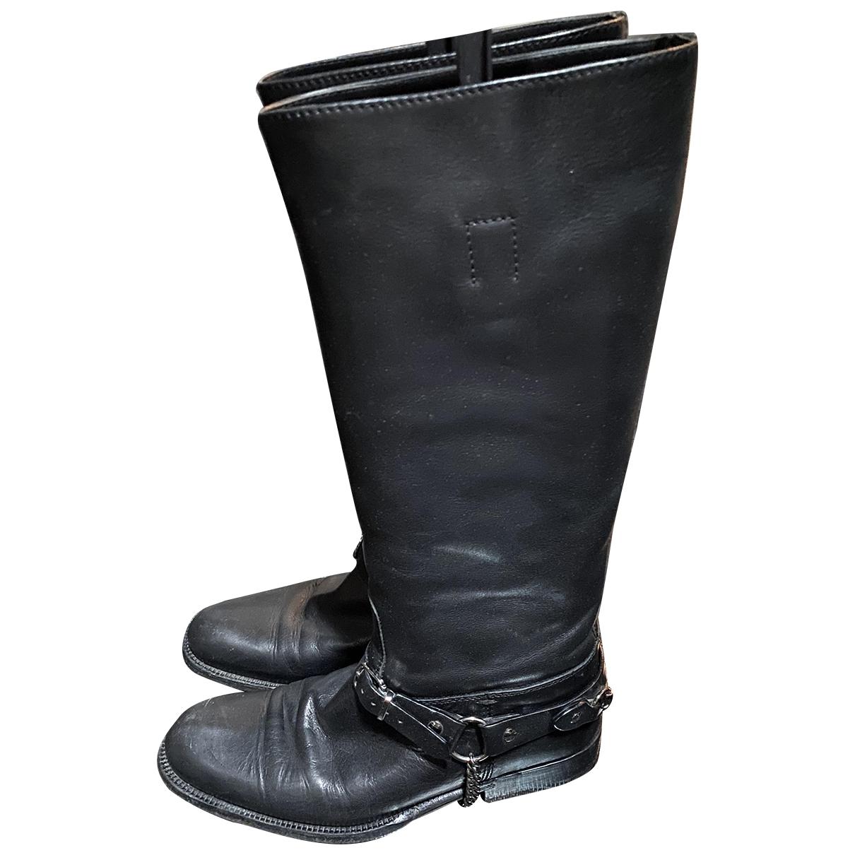 Gucci \N Stiefel in  Schwarz Leder
