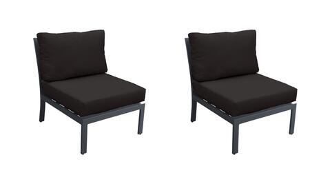TKC067b-AS-DB-BLACK Armless Chair 2 Per Box - Ash and Black