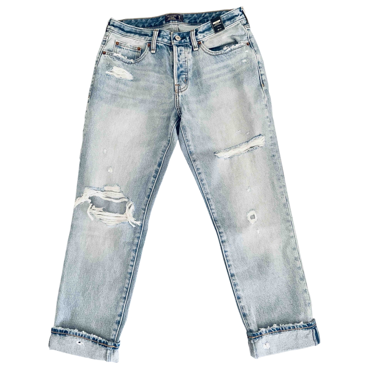 Abercrombie & Fitch \N Jeans in  Blau Denim - Jeans
