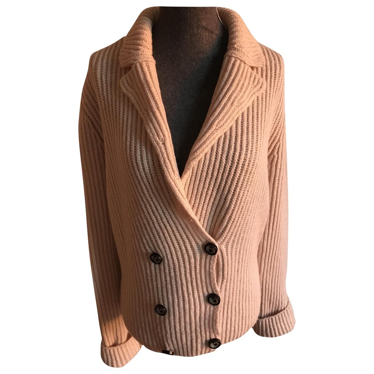 Marc Cain - Pull   pour femme en laine - ecru