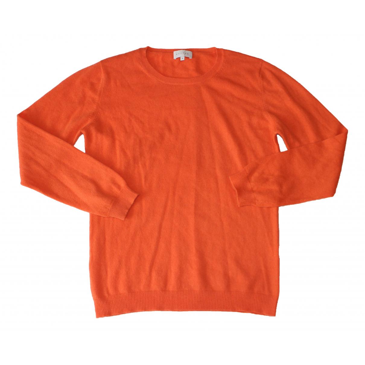 Kujten - Pull   pour femme en cachemire - orange