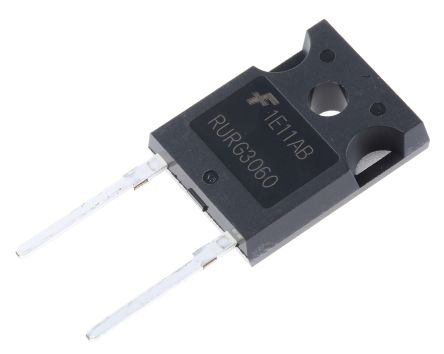 ON Semiconductor ON Semi 600V 30A, Silicon Junction Diode, 2-Pin TO-247 RURG3060