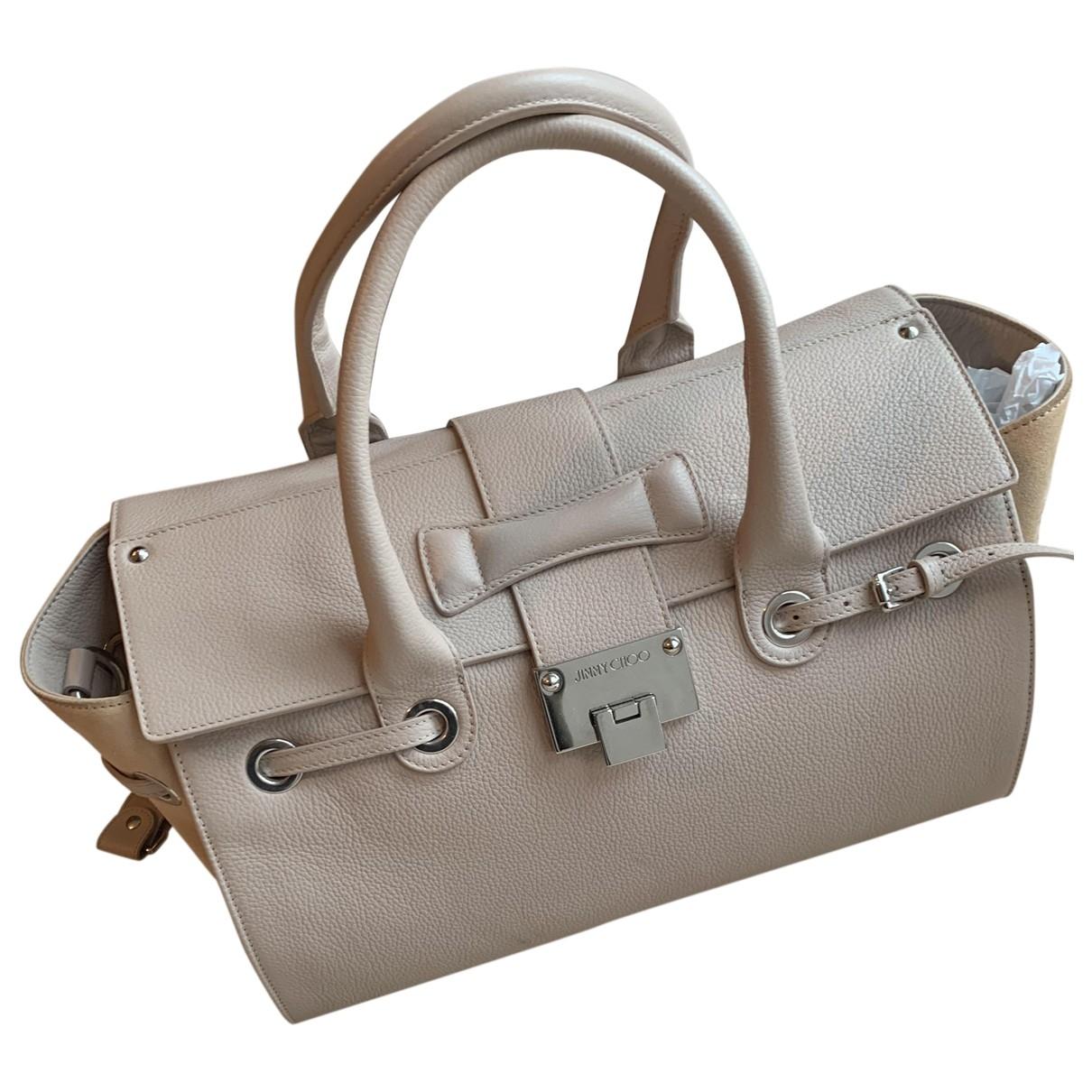 Jimmy Choo \N Beige Leather handbag for Women \N