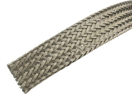 UVOX Expandable Braided Nylon Grey Cable Sleeve, 5m Length