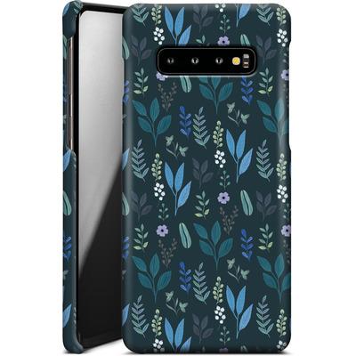 Samsung Galaxy S10 Plus Smartphone Huelle - Blue Foliage von Iisa Monttinen