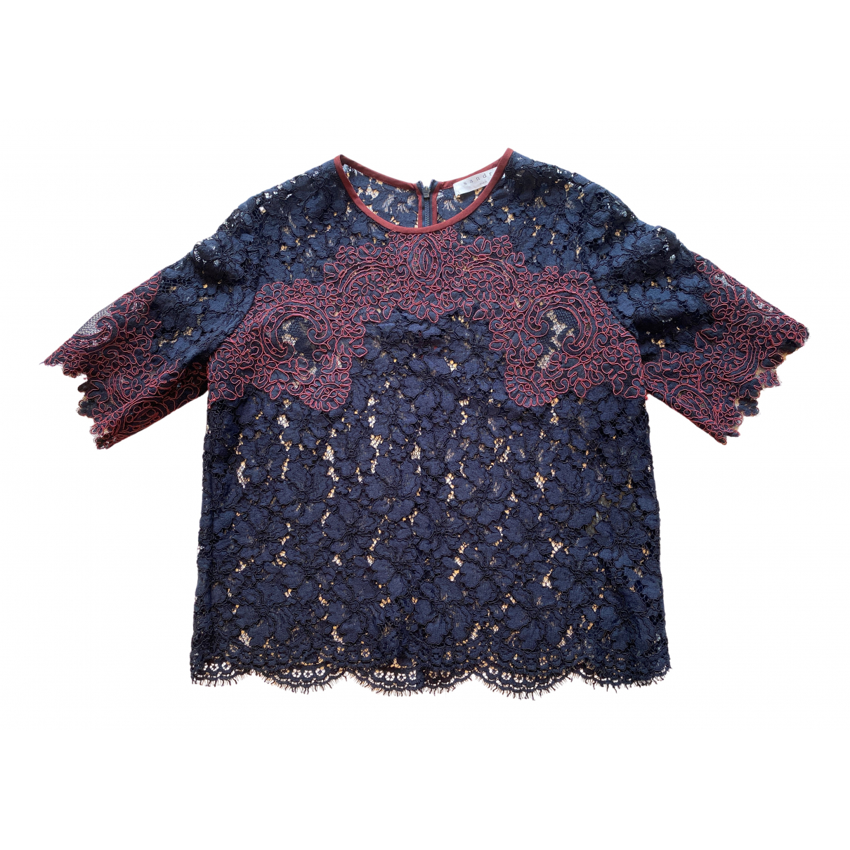 Sandro N Navy Lace  top for Women 2 0-5