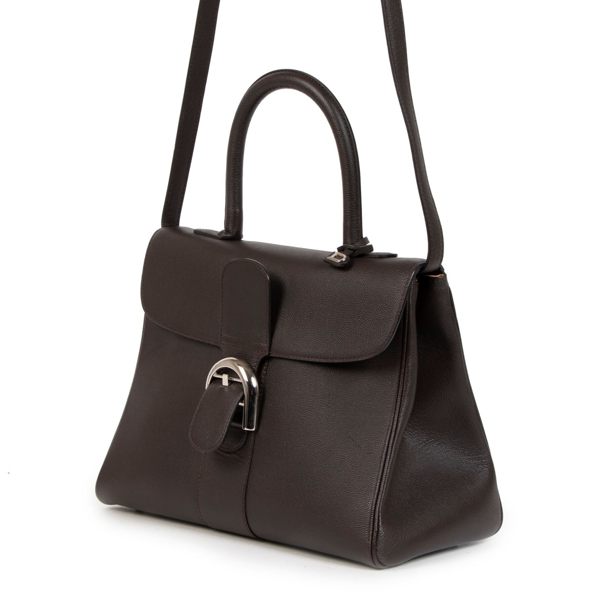 Delvaux Le Brillant Handtasche in  Braun Leder