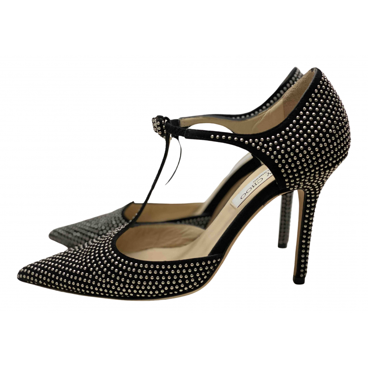 Jimmy Choo \N Pumps in  Schwarz Veloursleder