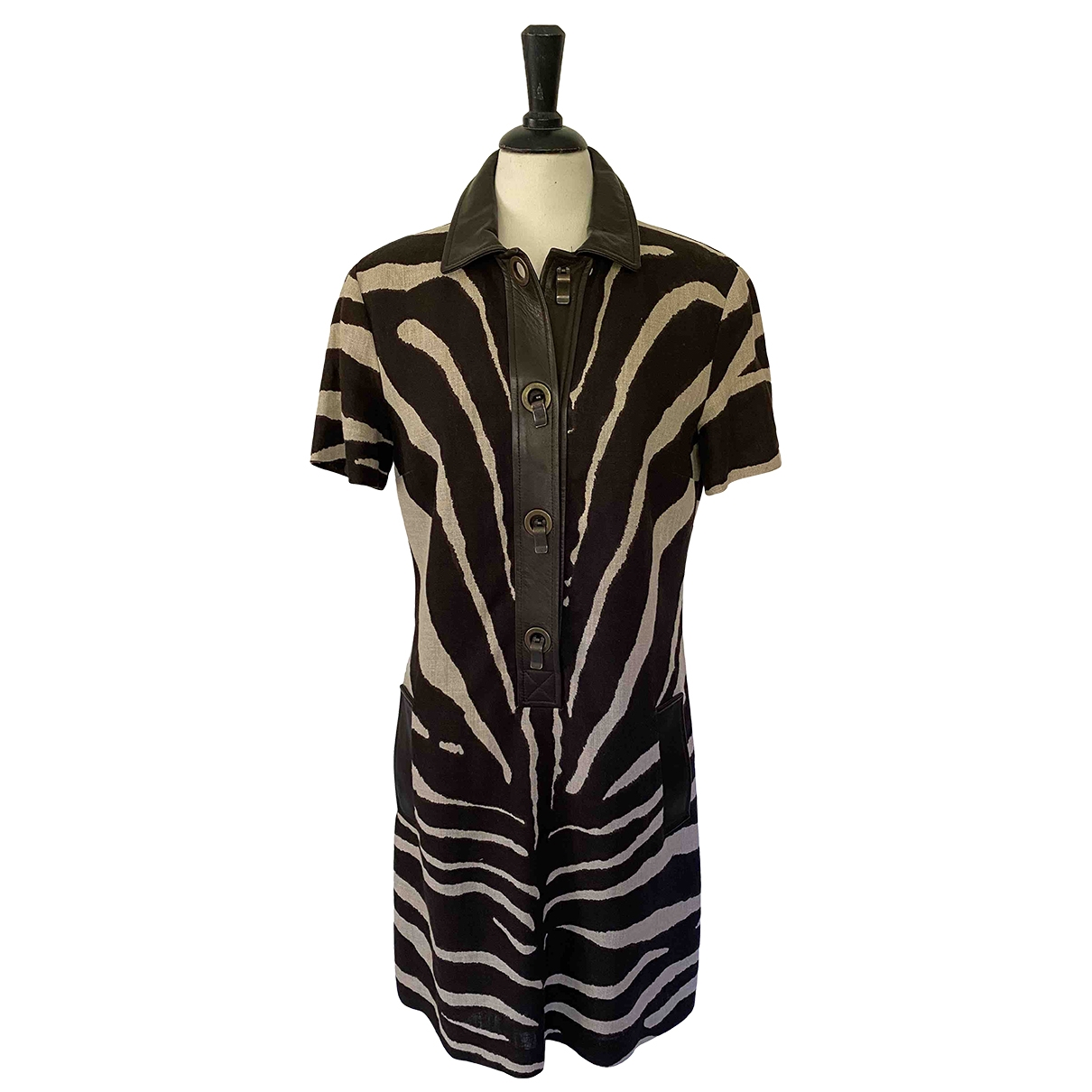 Michael Kors \N Brown Linen dress for Women 10 UK
