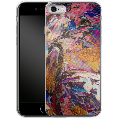 Apple iPhone 6 Silikon Handyhuelle - Brush Swirl V von Stella Lightheart