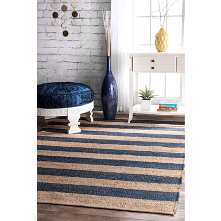 nuLoom Flatweave Alisia Stripes Jute Rug, One Size , Multiple Colors
