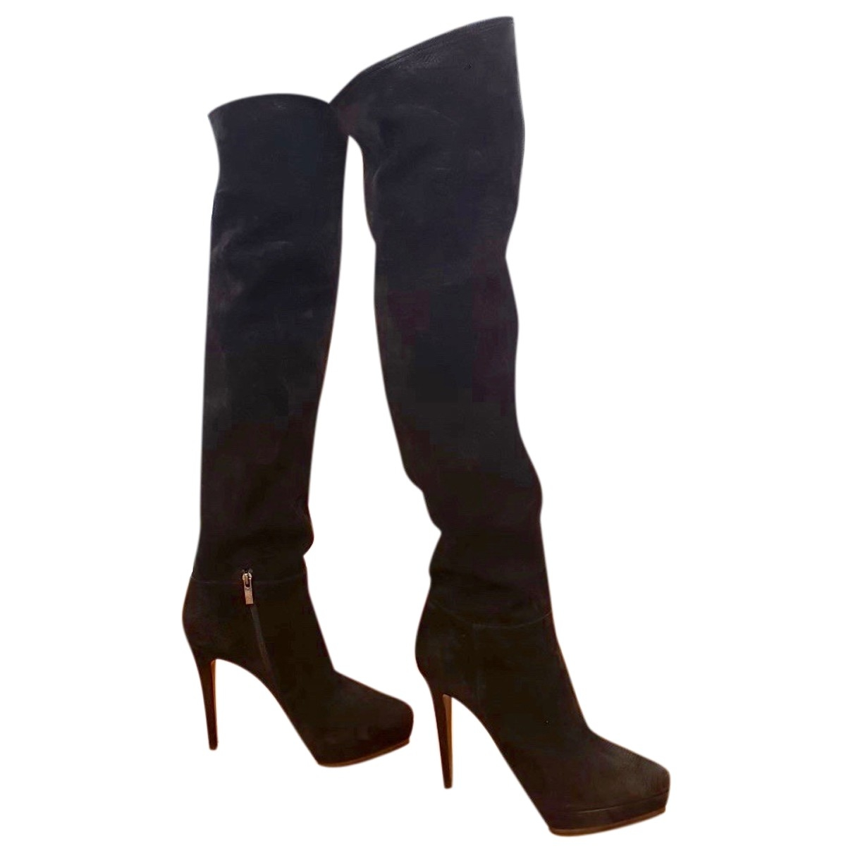 Le Silla \N Black Leather Boots for Women 37.5 EU