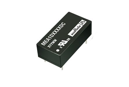 Murata Power Solutions MEA1 1W Isolated DC-DC Converter Through Hole, Voltage in 21.6 → 26.4 V dc, Voltage out