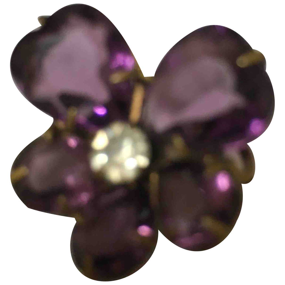 Non Signé / Unsigned Améthyste Purple Metal Pins & brooches for Women \N