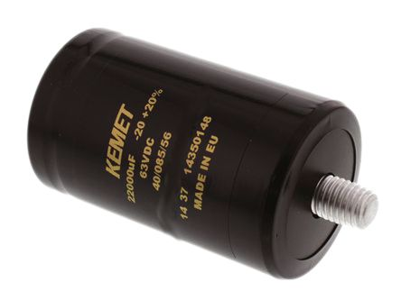 KEMET 470μF Electrolytic Capacitor 450V dc, Screw Mount - ALS31A471DF450