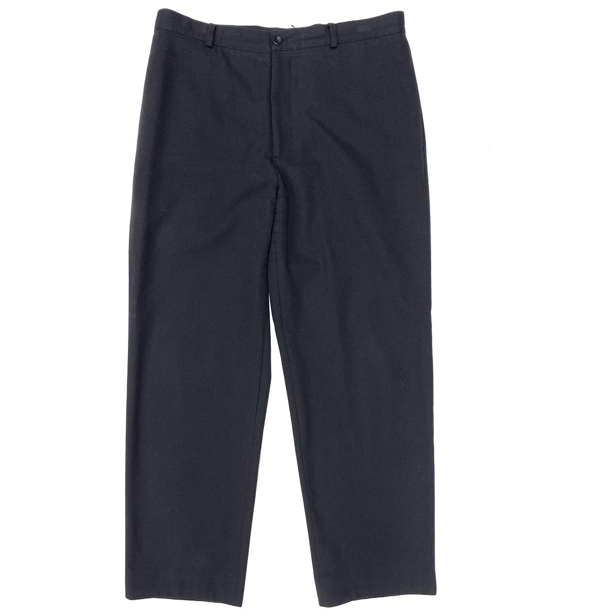 Pantalones en Algodon Negro Armani Collezioni