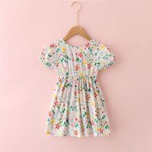 Toddler Girls Allover Floral Backless Dress