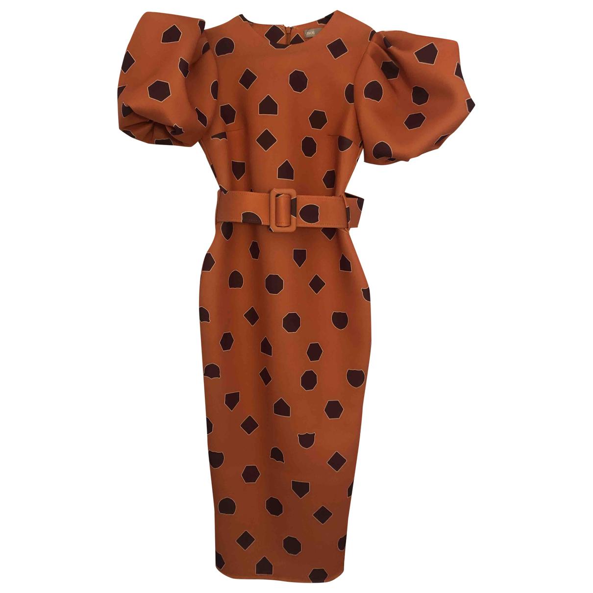 Asos \N Kleid in  Orange Frottee