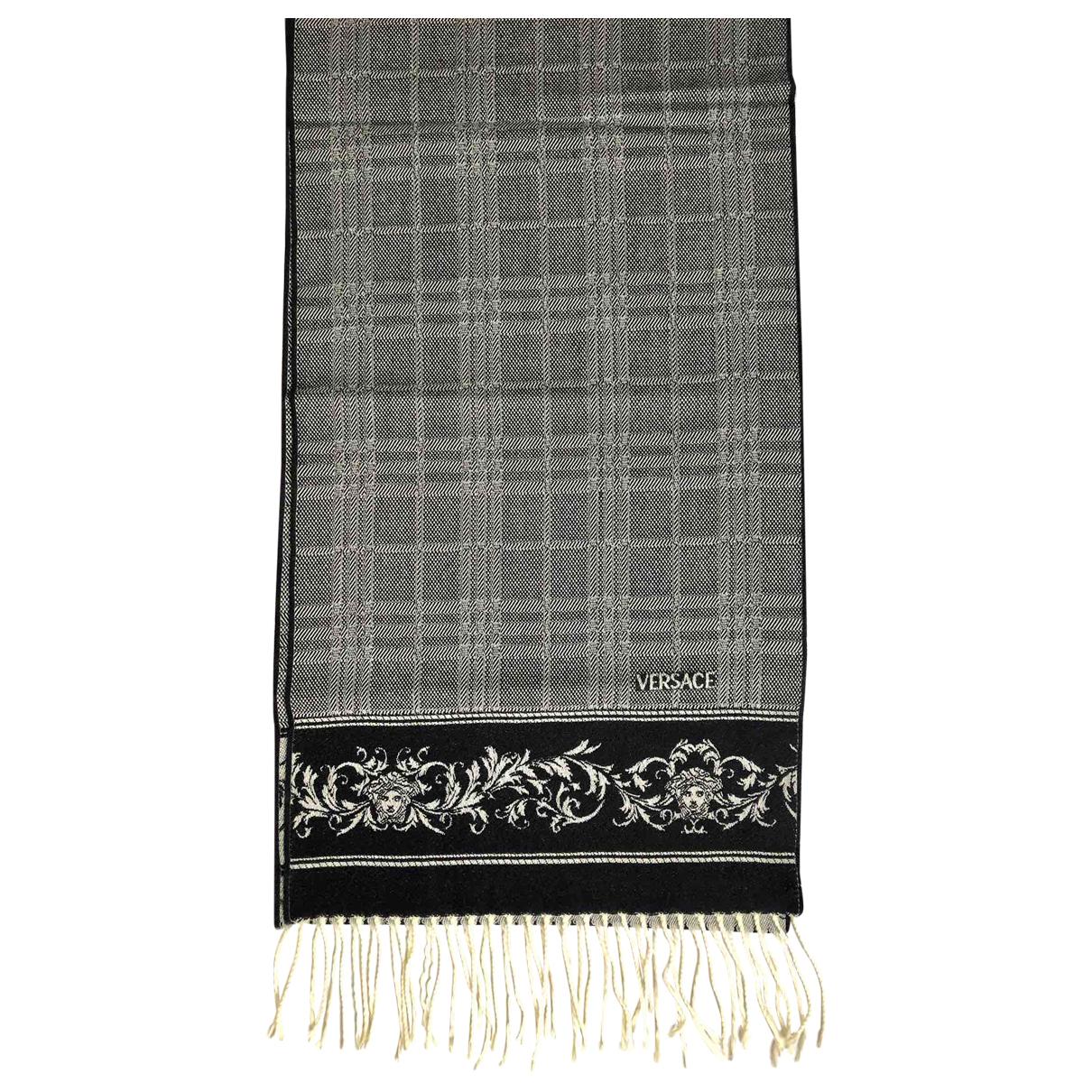 Versace N Grey Wool scarf for Women N