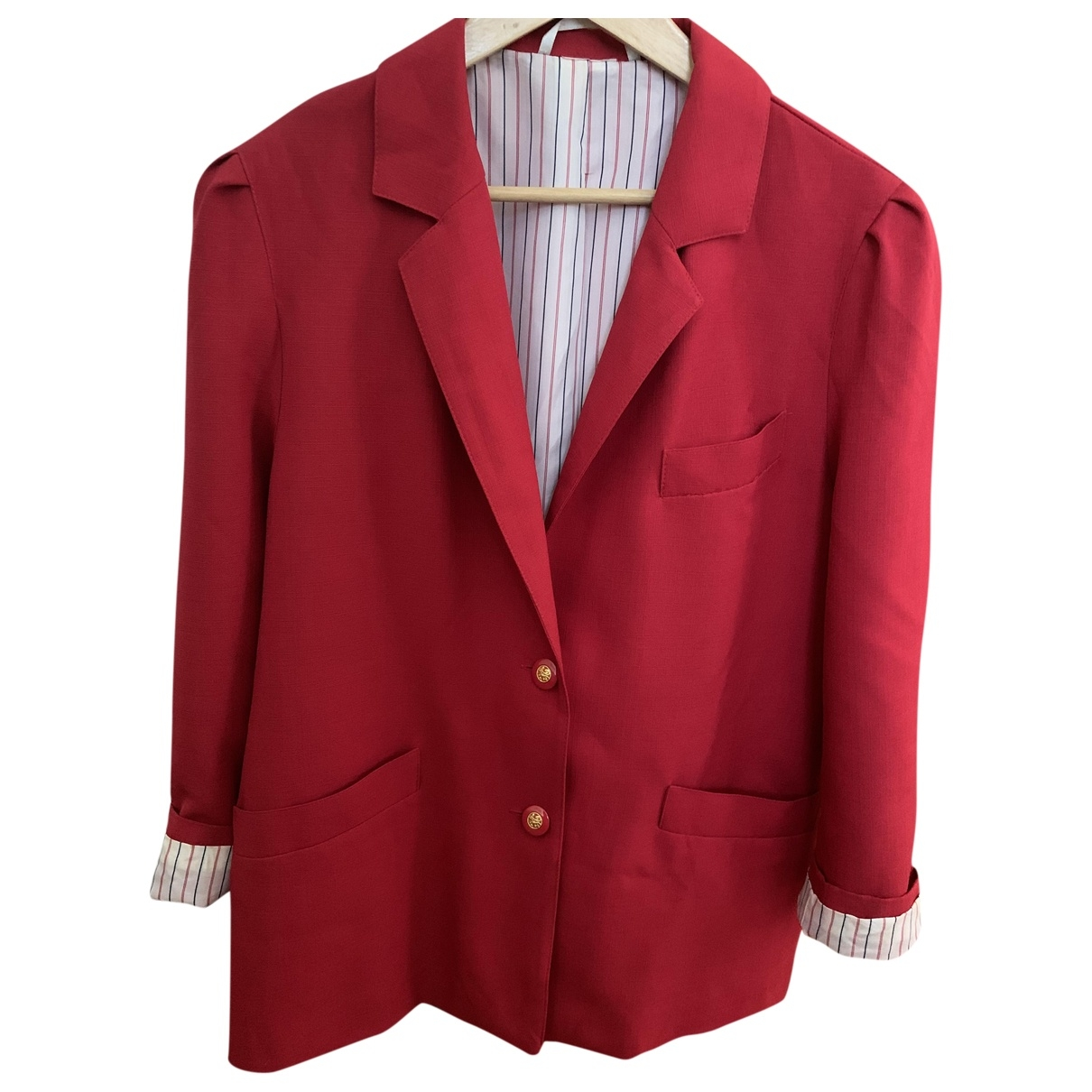 Non Signé / Unsigned Oversize Red jacket for Women 40 FR