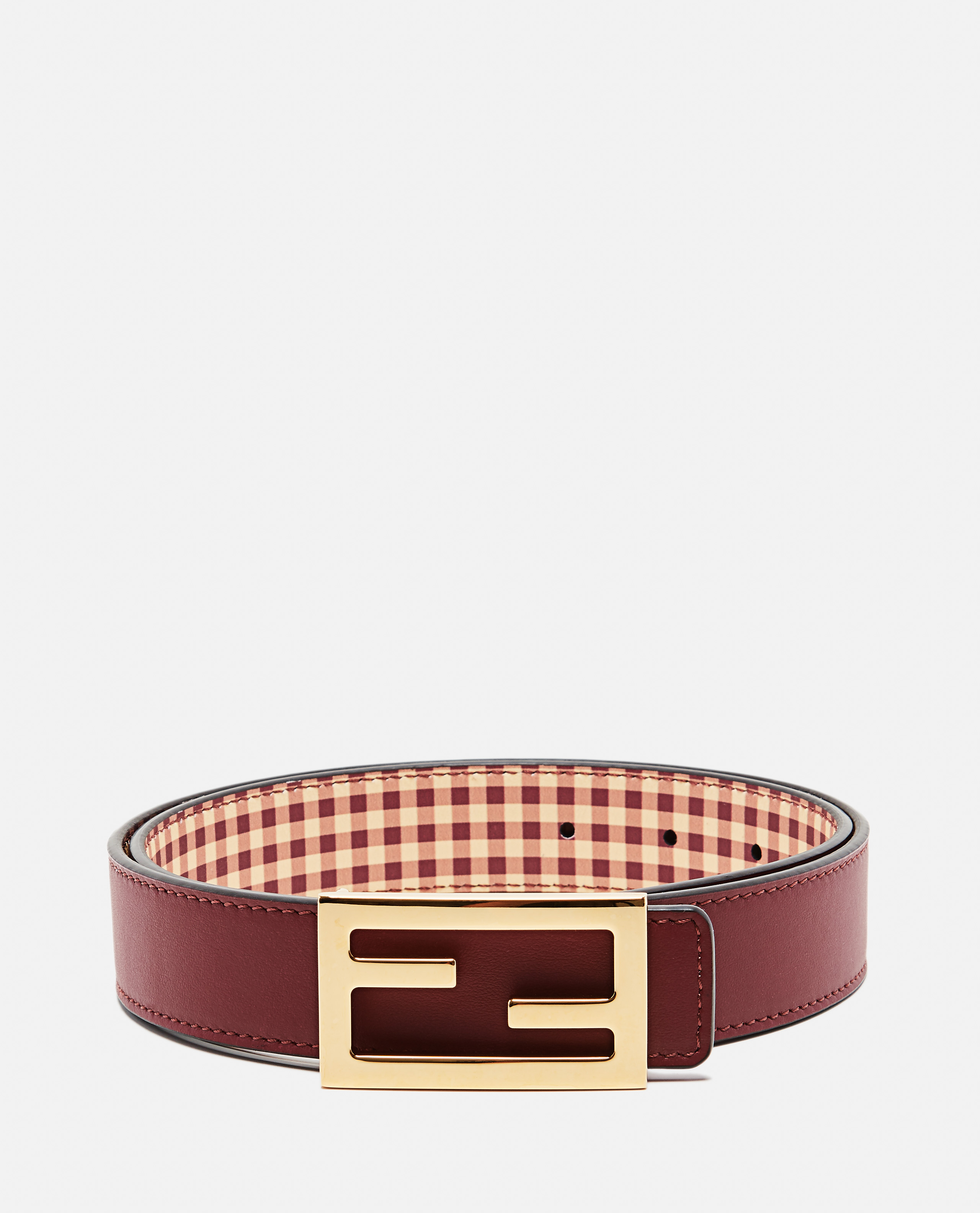 Belt with reversible buckle