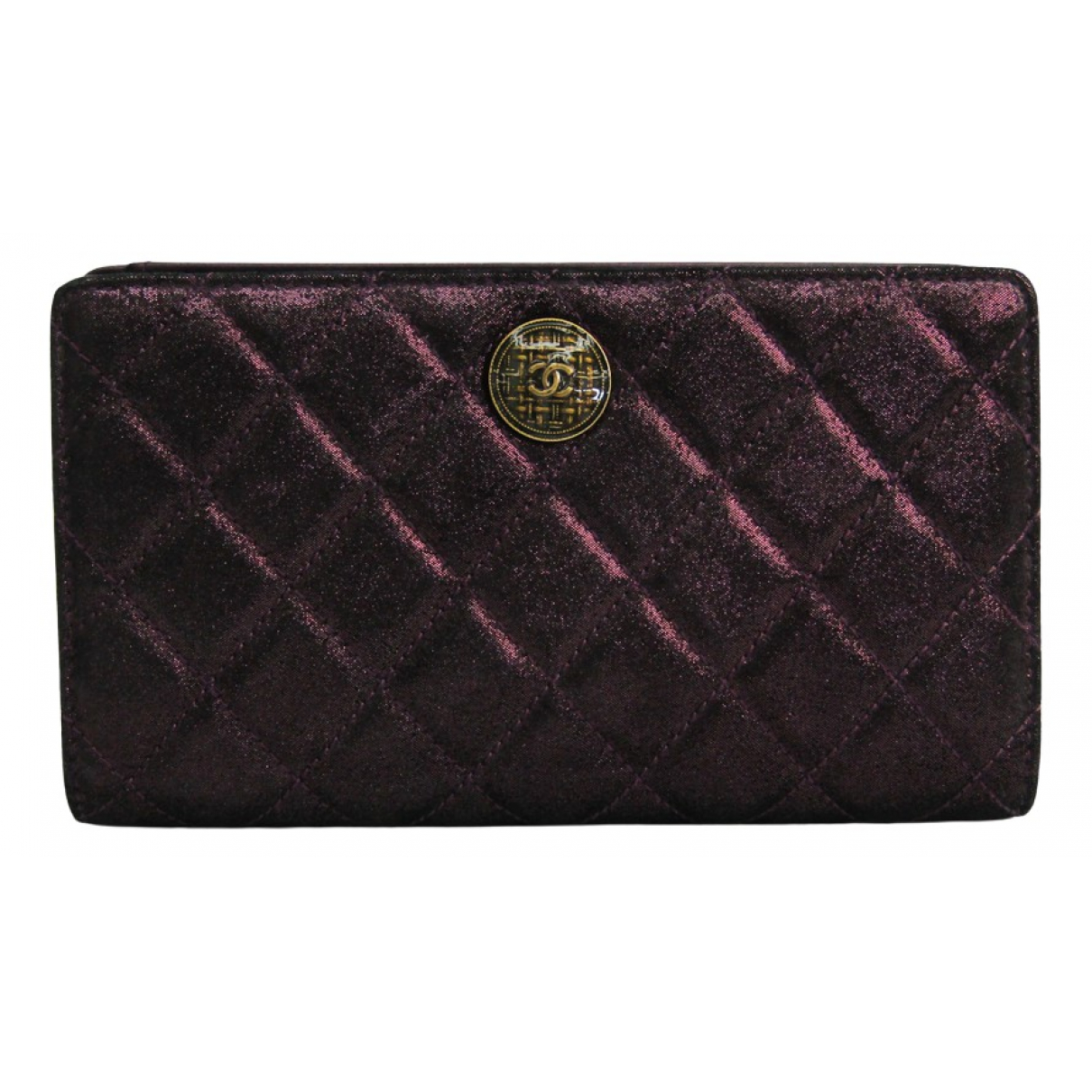 Chanel \N Portemonnaie in  Lila Leinen