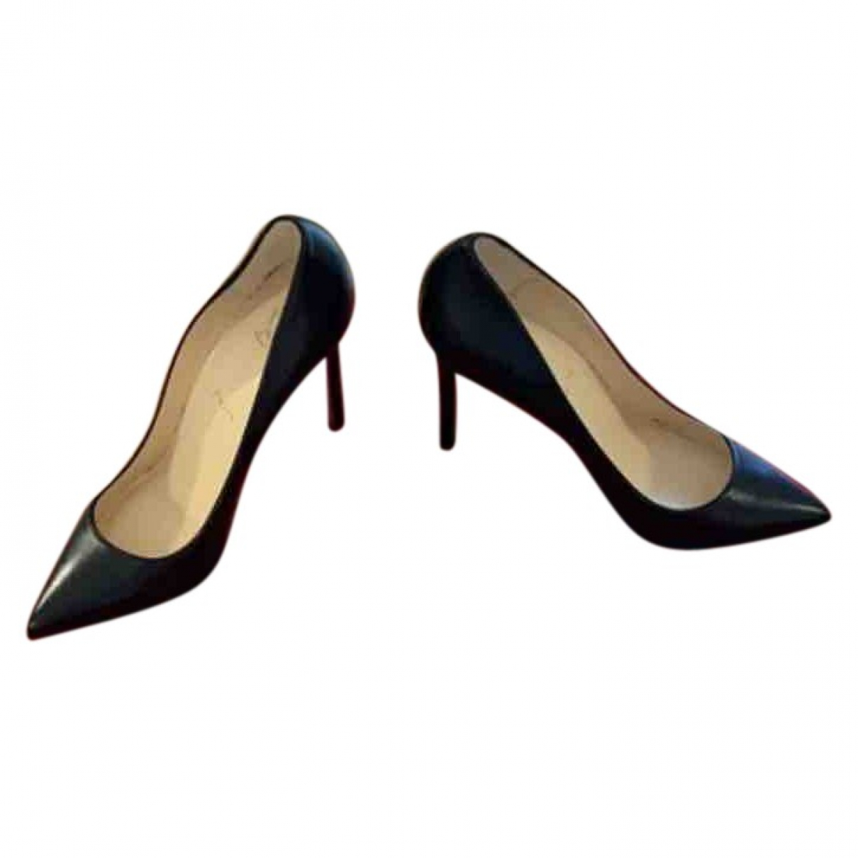 Christian Louboutin \N Black Leather Heels for Women 40 EU