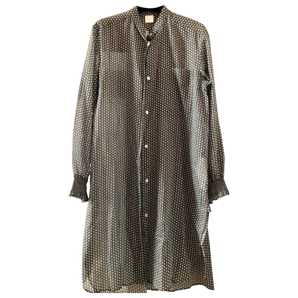 Max Mara - Robe   pour femme en coton - multicolore