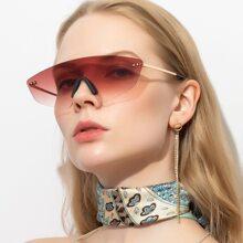 Flat Top Rimless Sunglasses