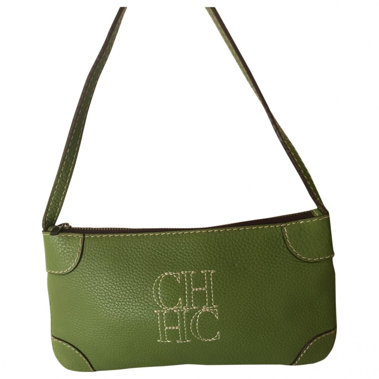 Carolina Herrera \N Handtasche in  Gruen Leder
