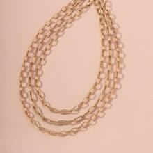 3 Stuecke Halskette mit Metall Kette