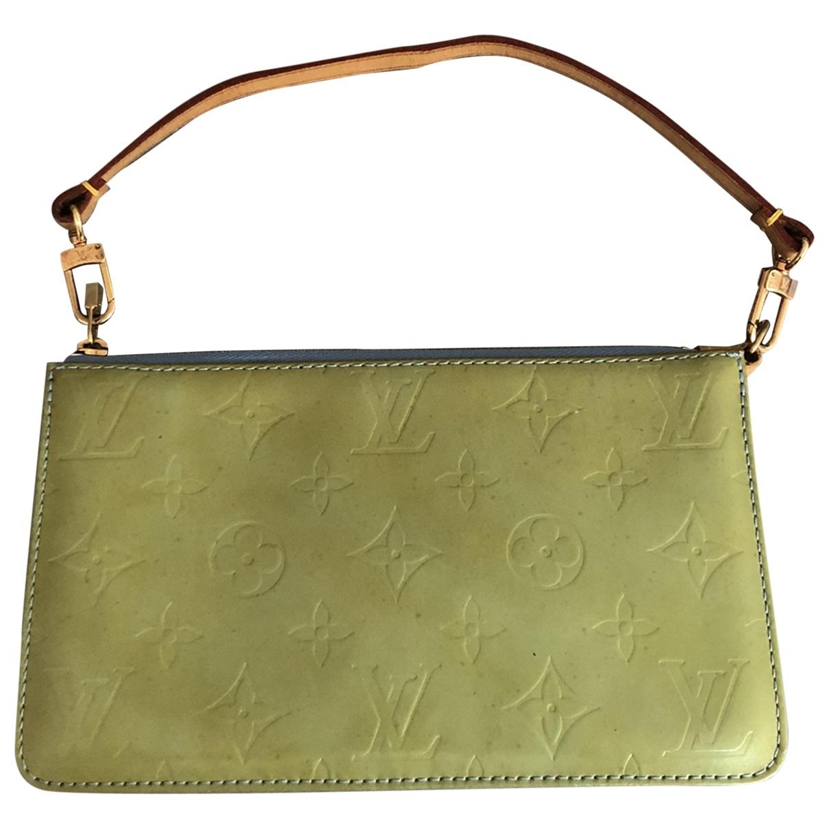 Louis Vuitton - Sac a main   pour femme en cuir verni - vert
