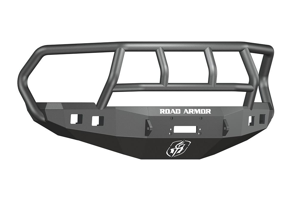 DODGE Front Winch Bumper Square Light Ports 2500,3500,4500,5500 RAM 10-15 BLACK Titan II Guard Road Armor 408R2B Stealth Series