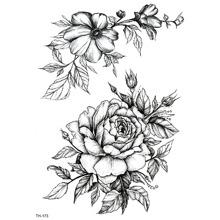 Pegatina tatuaje con patron floral