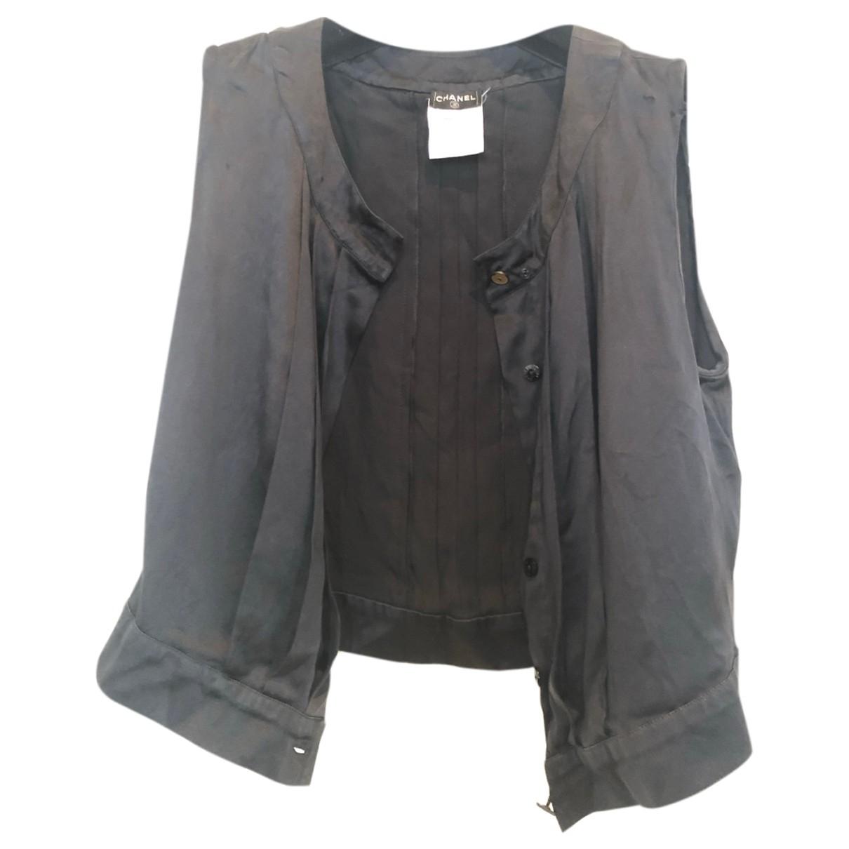 Chanel \N Black Silk  top for Women 34 FR
