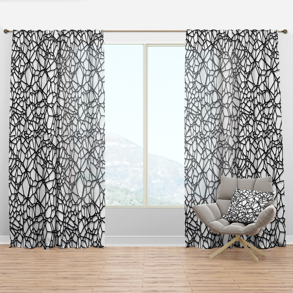 Designart 'Abstract Mosaic Pattern' Modern & Contemporary Curtain Panel (50 in. wide x 63 in. high - 1 Panel)