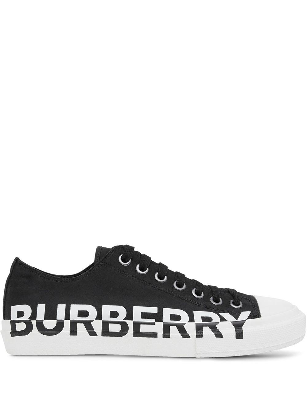 Cotton Logo-print Two-tone Sneakers