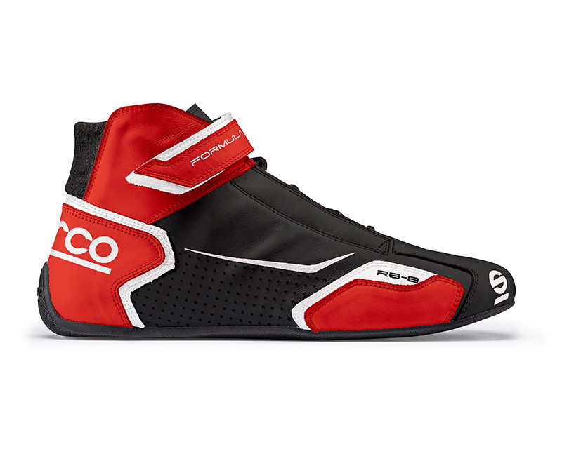 Sparco 00123641NRRS Black and Red Formula RB-8 Driving Shoes EU 41 | US 7