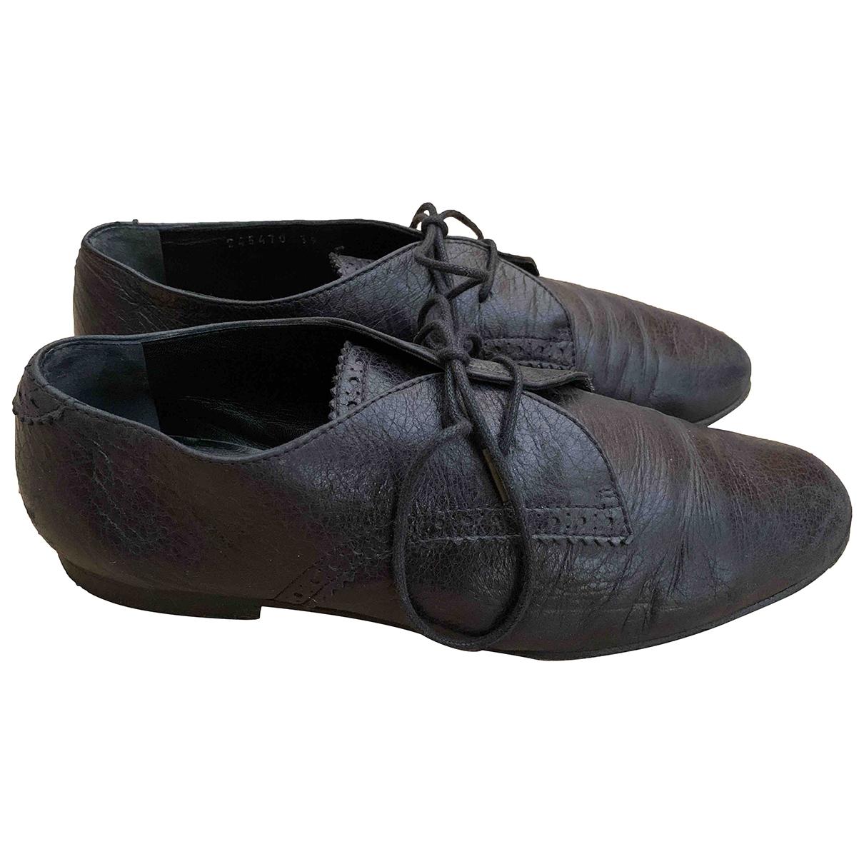 Balenciaga \N Schnuerschuhe in  Schwarz Leder