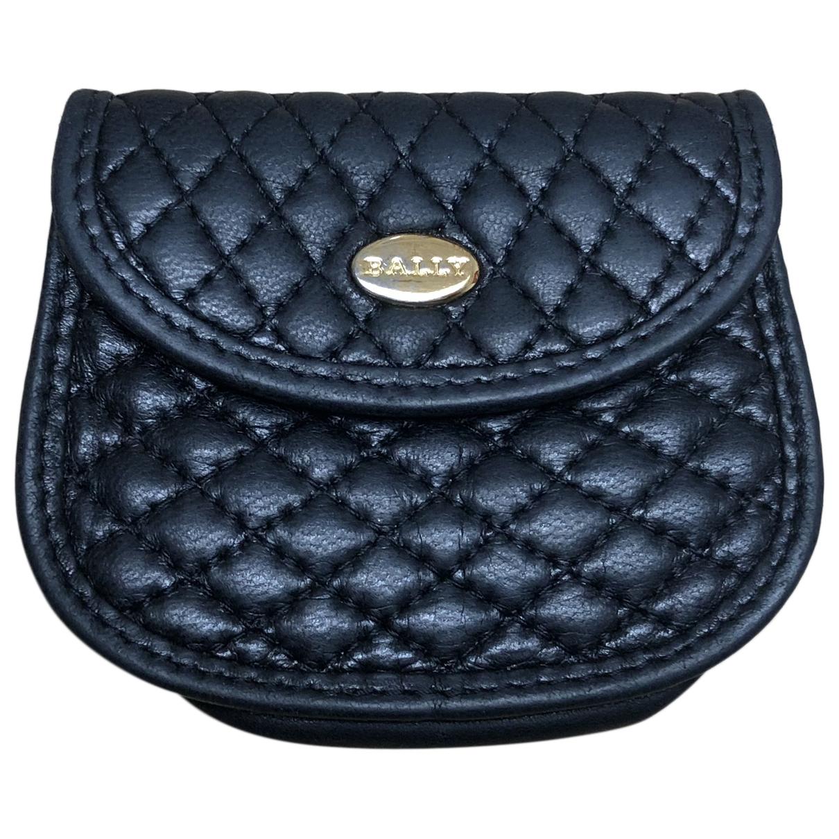 Bally - Portefeuille   pour femme en cuir - noir