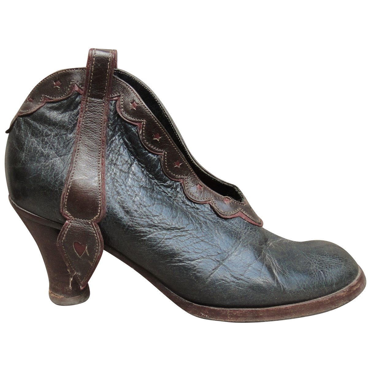 Sartore \N Green Leather Ankle boots for Women 36 IT