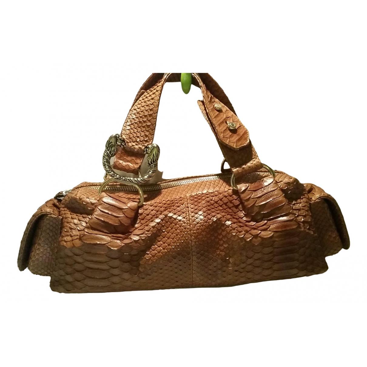 Bvlgari \N Brown Python handbag for Women \N