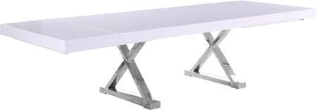 997-T Excel White Lacquer Extendable Dining Table (3