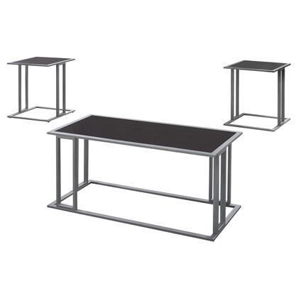 I 7957P Table Set - 3-Piece Set / Cappuccino / Silver
