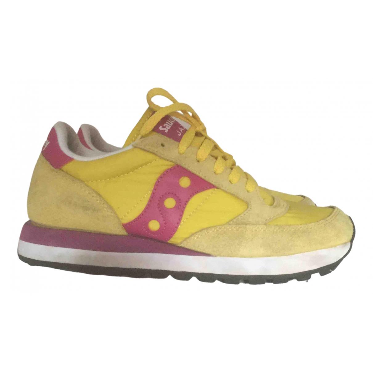 Saucony - Baskets   pour femme en suede - jaune
