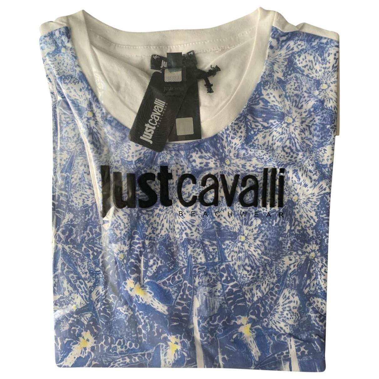 Just Cavalli - Tee shirts   pour homme en coton - bleu
