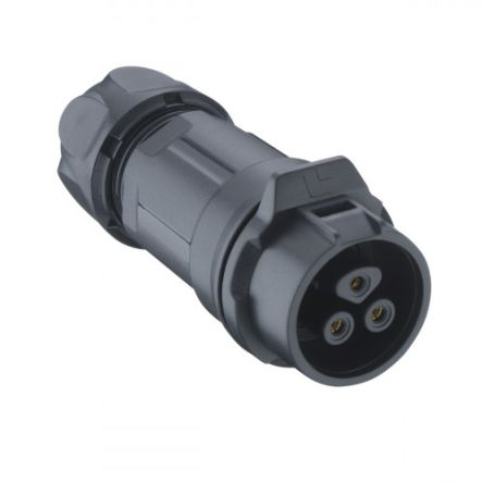 Lumberg Circular Connector, 4 contacts Cable Mount Socket, Solder IP67 (50)